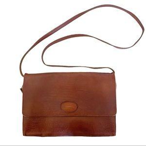 Vintage Mulberry Leather Flap Front Shoulder Purse